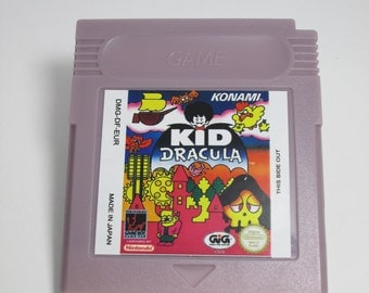 Kid Dracula Gameboy reproduction game cartridge