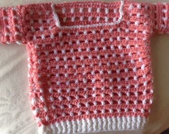 Crochet sweater, Crochet baby girl sweater