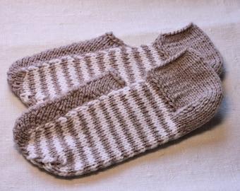 Women knitted slippers-Knitted socks-House shoes socks-Home footwear-Soft slipper socks