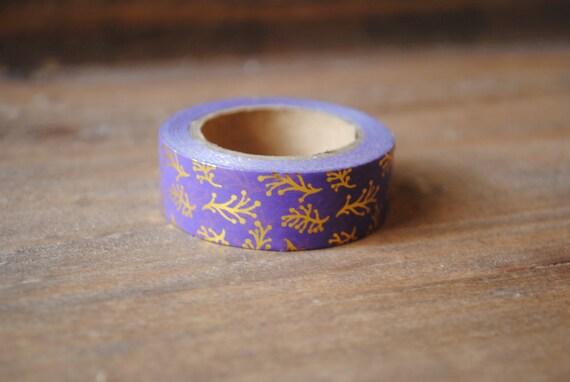 Púrpura y oro hoja hoja Washi Tape  Navidad  por PaperSupplyStation