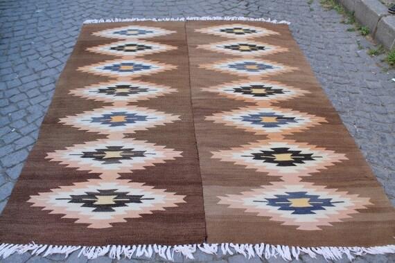 Turkish  Kilim Rug 92.51''x68.89'' Anatolian Kilim Rug,Vintage Kilim Rug,Handmade Kilim Rug