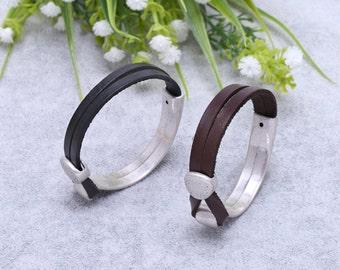 Mens bracelet, leather bracelet, cuff bracelet, wrap bracelet, S 276