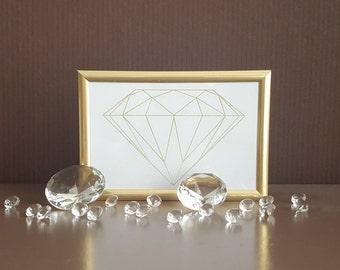 Gold Diamond print