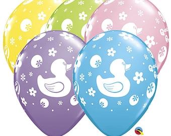 """11"""" Rubber Duck Balloons, 11"""" Balloons, USA Balloons, Party, Party Decor, Rubber Duck, Birthday, Latex Balloon, Birthday Party"""