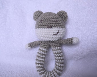 Teddy rattle crochet pattern pdf instant download