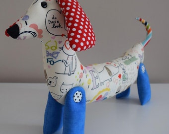Stuffed dog sewing pattern pdf instant download, Toy dog sewing pattern