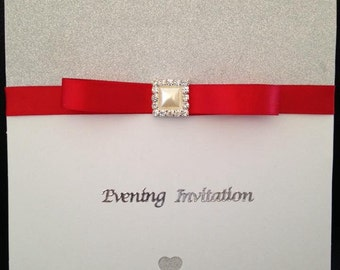 Sparkly wedding invitation
