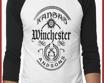 Supernatural  baseball  3/4 sleeve Shirt