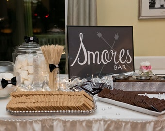 Wedding Sign-age: Smores Bar Sign