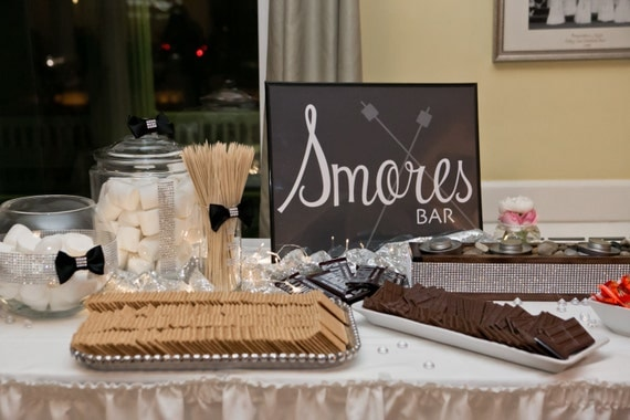 Wedding Sign Age Smores Bar Sign