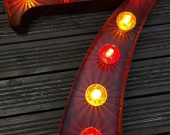 Number Light / Fairground Circus Carnival Lamp / Retro / 61cm H / Dimmable