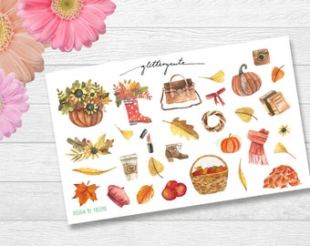 Autumn Fall Elements Planner Stickers