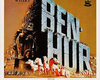 "Ben Hur Movie Poster 1959 ""The World's Most Honored Motion Picture"" 24x36"