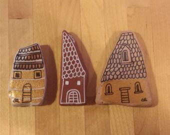 My painted stones: village