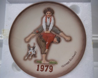 "1979 Collectible Norman Rockwell First Edition ""Leapfrog"" Plate"