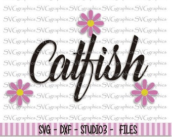 Svg, dxf files, instant download, scrapbooking, vector graphic for silhouette Cameo, cricut - 122- Catfish svg font