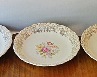 3 Bowls, Canonsburg Golden Fragrance, Serving Bowls