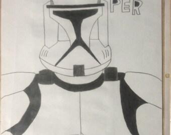 Clone Trooper, Star Wars Art  - JPG.File