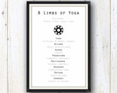 8 limbs of yoga art print/ yoga studio decor