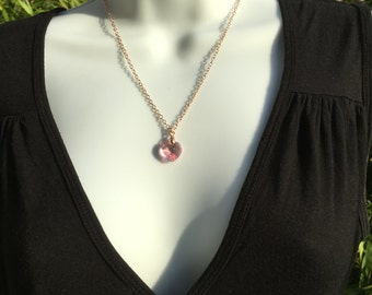 Evening necklace Swarovski Rose Gold