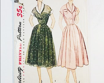 40s Party Dress Pattern | Simplicity 3619 Misses Dress Pattern | 40s Sewing Pattern