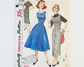 Simplicity 1734 | 50s Jumper Dress Pattern | 50s Misses Dress Pattern | 50s Sewing Pattern