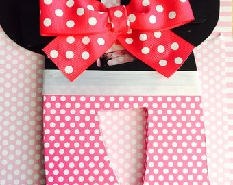 Minnie Mouse Wooden Letters - Custom Made
