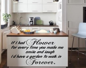 If I had a flower love Inspirational  vinyl wall decor decoration Sticker family words  decal sticker cheap kitchen decorative Removable