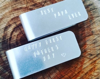 Personalized Money Clip - Father's Day - Anniversary - Groomsmen Gift