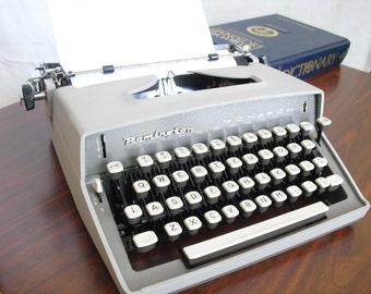 Working Gray Remington Monarch Portable Manual Typewriter, 1960s Old Remington Portable Typewriter, Vintage Portable Manual Typewriter