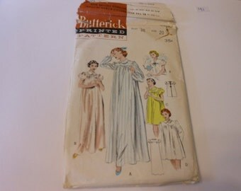 Vintage Butterick Nightgown Pattern 6315