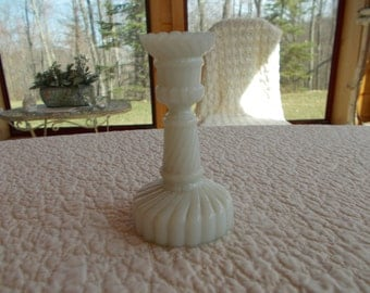 Vintage milk glass candle stick.