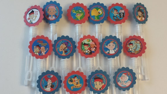 Jake neverland pirate mini bubble wands birthday party for Mini bubble wands