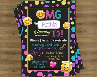 Emoji Party Invitations; Emoji Invitations; Emoji Birthday Invitations; Emoji Birthday Party Invitations; Emoji Invites