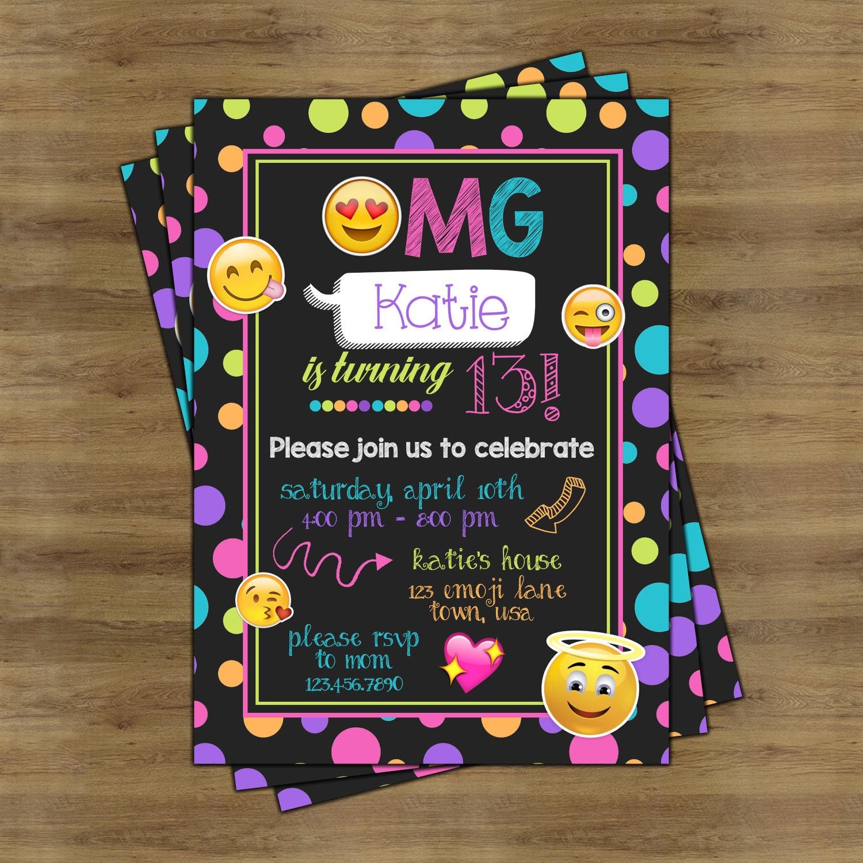 Emoji Party Invitations Emoji Invitations Emoji Birthday