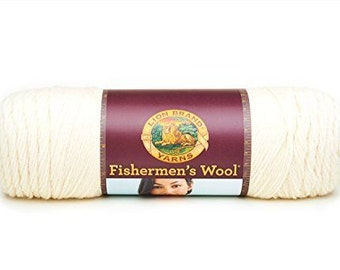 Lion Brand Fishermen's Wool in the color Natural