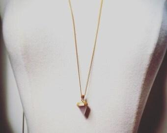 light lavender pendant necklace