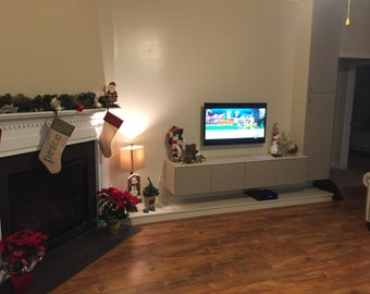 TV Stand, floating tv stand, Entertainment Center, Media Console, Cabinet