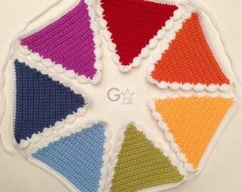 Rainbow Crocheted Bunting