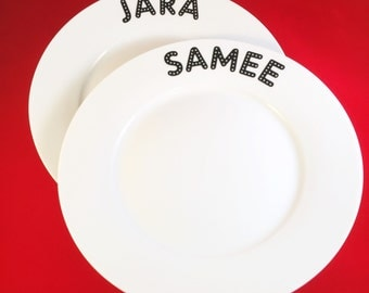 Breakfast plate with name