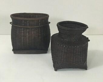 Dark Woven Baskets