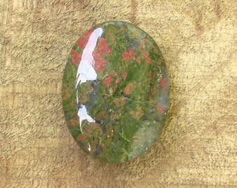 Unakite Double Sided Cabochon Palm Stone