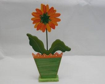 Gerbera Daisy Garden - Large Golden Yellow and Orange Gerbera in Pot