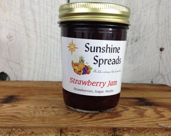 Strawberry Jam, 8 Ounce Jar, Amish Made