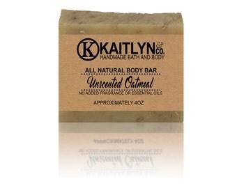 Unscented Goat Milk Soap, All Natural, Handmade, Oatmeal Soap, Sensitive Skin Soap