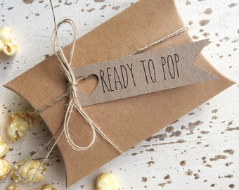 Rustic 'Ready To Pop' DIY Favour Kit Pk10 / Baby Shower