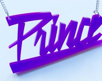 Prince Necklace - Musician, Purple Rain, Prince,