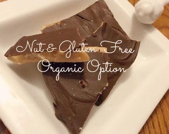 Dark or Milk Chocolate Toffee, 1 lb ~Handmade to Order ~ Nut & Gluten Free ~ Organic Option Available