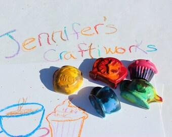 Tea and Cake Time! rainbow crayon set of 5