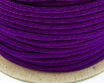 5, 10, 50 m rubber cord 3 mm violet
